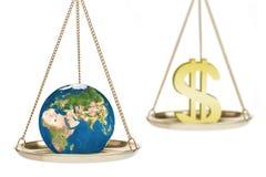 Profit versus environment Stock Image