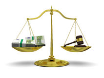 Profit versus justice Royalty Free Stock Photo