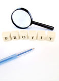Profit word Royalty Free Stock Images