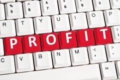 Profit word Stock Photo