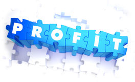 Profit - Word in Blue Color on Volume  Puzzle Royalty Free Stock Photography