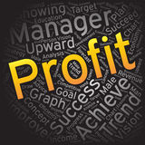 Profit ,Word cloud art background Stock Image