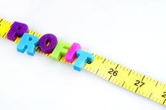 Profit word on cm ruler Royalty Free Stock Photo