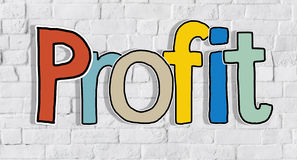 Profit Word Concepts Isolated on Background Royalty Free Stock Images