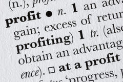 Profit word dictionary definit Royalty Free Stock Image