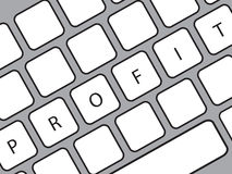 Profit word on keyboard Royalty Free Stock Images