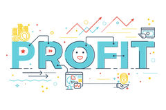 Profit word lettering Royalty Free Stock Photo