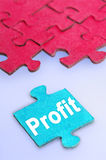Profit word Stock Photo