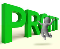 Profit Word Represents Market And Trade Earnings Royalty Free Stock Image