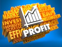 Profit. Wordcloud Concept. Royalty Free Stock Image