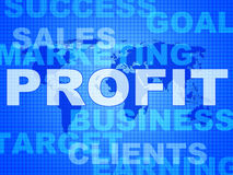 Profit Words Indicates Investment Earnings And Corporate Royalty Free Stock Photo