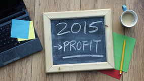 Profit in 2015 Stock Photo
