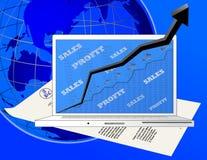 Profitability With A Laptop Stock Photo