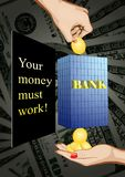 Profitable bank deposit Stock Photos