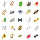 Profitable enterprise icons set, isometric style Royalty Free Stock Image