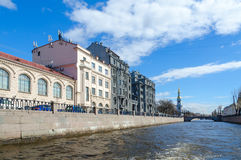 Profitable house of R.G. Vege on embankment of Kryukov Canal, St. Petersburg, Russia Royalty Free Stock Photography
