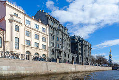 Profitable house of R.G. Vege on quay of Kryukov Canal, St. Petersburg, Russia Stock Photography