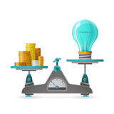 Profitable idea vector concept in flat style Stock Image