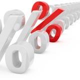 Profitable interest rate Stock Photo