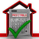 Profitable real estate. Concept Stock Image