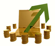 Profitable and successful online trading symbol Stock Images