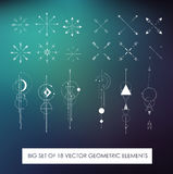 Profitably pack of high quality geometric elements. Sacred geometry Royalty Free Stock Photo