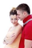 Profiter d'un agréable moment vraiment romantique de couples Photos stock
