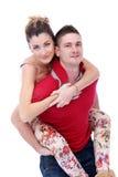 Profiter d'un agréable moment vraiment romantique de couples Photo libre de droits