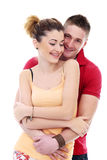 Profiter d'un agréable moment vraiment romantique de couples Image stock