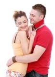 Profiter d'un agréable moment vraiment romantique de couples Photographie stock libre de droits