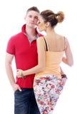 Profiter d'un agréable moment vraiment romantique de couples Image libre de droits