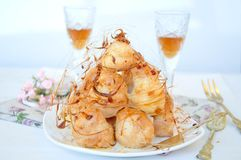 Profiterole, cream puff Stock Photography