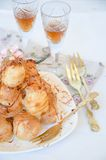Profiterole, cream puff Royalty Free Stock Image
