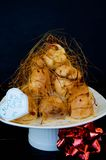 Profiterole, cream puff Royalty Free Stock Photos