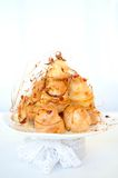 Profiterole, cream puff Royalty Free Stock Images