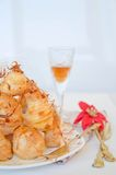 Profiterole, cream puff Royalty Free Stock Photography