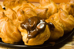 Profiteroles royalty free stock photos