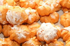 Profiteroles choux pastry buns with whipped cream Royalty Free Stock Image