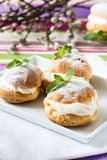 Profiteroles, cream puff, traditional French dessert Royalty Free Stock Photography