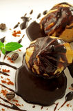 Profiteroles in glaze Stock Image
