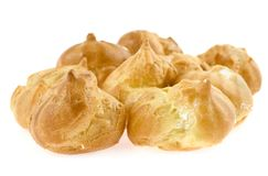 Profiteroles on a white background Royalty Free Stock Images