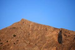 Profitis Elias Mountain in Morning Royalty Free Stock Photos