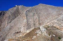 Profitis Elias mountain, Santorini Royalty Free Stock Photo