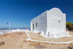 Profitis Ilias教堂,芦粟海岛,基克拉泽斯,希腊 免版税图库摄影