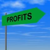 Profits. Road to profits sign Vector Illustration