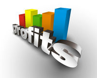 Profits business chart Stock Photo