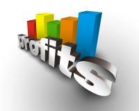 Profits business chart Stock Photo