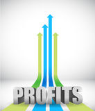 Profits business graph concept illustration Royalty Free Stock Photography