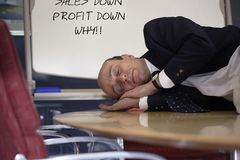 Profits down why? Royalty Free Stock Photography