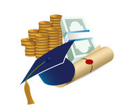 Profits after graduation concept Royalty Free Stock Photo